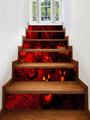 Halloween Pumpkins Pattern Removable Stair Stickers