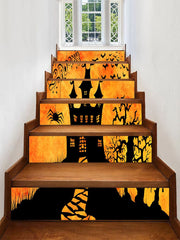 Halloween Spooky Castle Print Removable Stair Stickers
