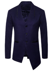 Asymmetric Single Breasted Collarless Blazer