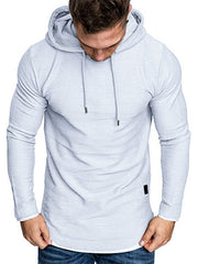 Contract Color Drawstring Pullover Hoodie
