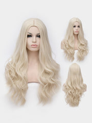 Long Center Parting Wavy Cosplay Lolita Synthetic Wig