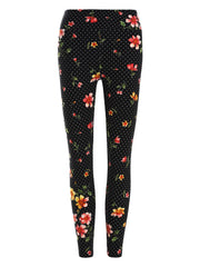 Polka Dot Print Skinny Leggings