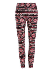 Skinny Geometric Pattern Leggings