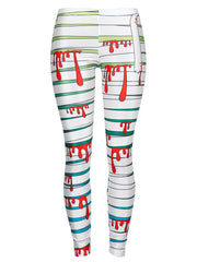 Womens Leggings Graphic Print Tights Fun Digital Design Holiday Elastic Pants