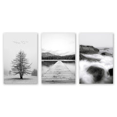 3PCS W549 Landscape Pattern Frameless Spray Painting