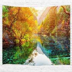 The Lake Forest 3D Printing Home Wall Hanging Tapestry for Decoration