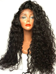 Long Side Parting Curly Lace Front Synthetic Wig