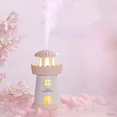 Creative Lighthouse Shape Mini Humidifier USB Powered Air Purifier
