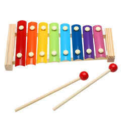 Wooden Music Instrument Eight Tone Keys Xylophone Toy