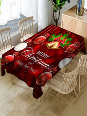 Christmas Bells Balls Print Waterproof Dining Tablecloth