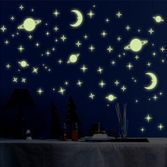 Moon Stars Theme Luminous Decorative Wall Sticker