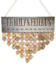 Friend Family DIY Wooden Calendar Reminder Board