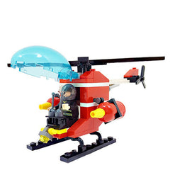 GUDI Fire Fighting Helicopters Blocks for Children Puzzling Toy