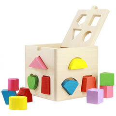 Thirteen Hole Intelligence Box Shape Matching Building Block Toy for Children