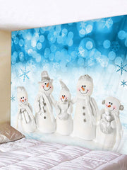 Christmas Snowman Snowflake Printed Tapestry Art Decoration
