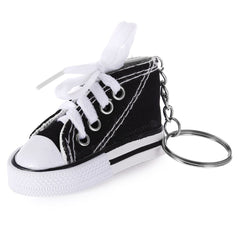 Emulational Classical Canvas Shoes Modeling Key Chain Holder Decor for Bags