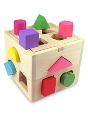 Wooden Geometric Shape Sorting Box for Kids