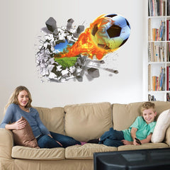 3D Romance Cartoon Sports 3D PVC Wall Sticker