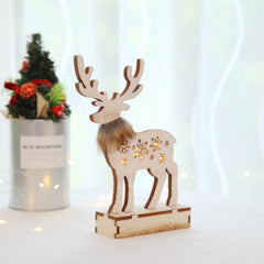 Wooden Reindeer Luminous Christmas Hotel Shopping Mall Window Decoration