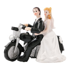 Motorcycle Groom Bride Cake Ornaments Decoration