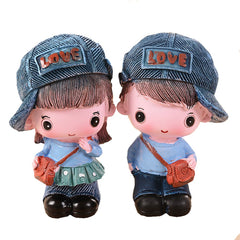 2 Pieces Children Gift Personalized Cowboy Couple Resin For Decoration