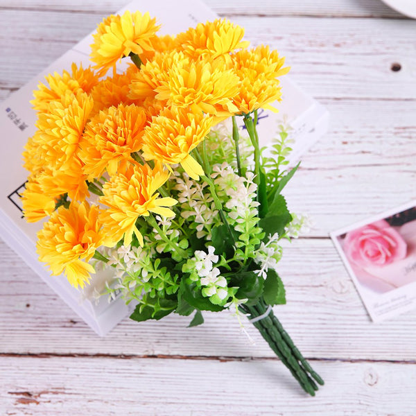 Spherical Chrysanthemum Home Decoration Branch of Artificial Flowers