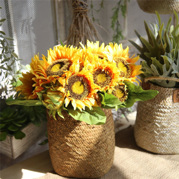Bridal Bouquet Artificial Flower Sunflower Home Wedding Decorations