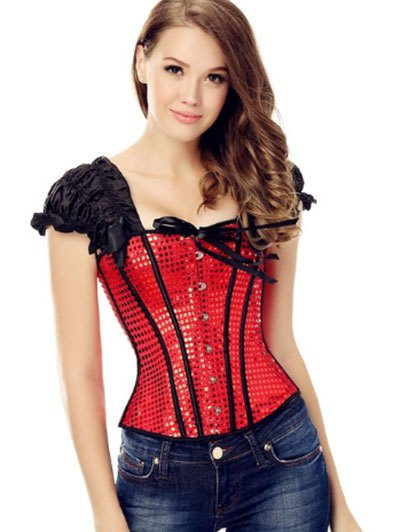 Buckle Up Sequined Corset