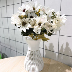 Silk White Daisy Pastoral Style Home Decoration Artificial Flower