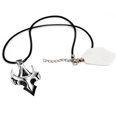 Men's Silver Personality Trend Triangle Badge Pendant Alloy Necklace