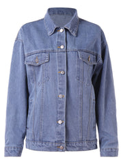 Drop Shoulder Jean Jacket