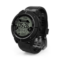 UW80C Outdoor Male Sports Digital Watch Heart Rate Monitor SOS Compass GPS Wristwatch for Men
