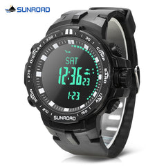 SUNROAD FR861B Outdoor Digital Watch Altimeter Compass Barometer 5ATM Wristwatch