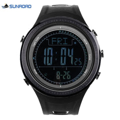 SUNROAD FR802B Male Digital Sports Watch Altimeter Barometer Compass 5ATM Wristwatch