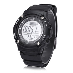 Unisex FR719A Digital Fishing Barometer Watch 30M Water Resistance Multifunctional Wristwatch