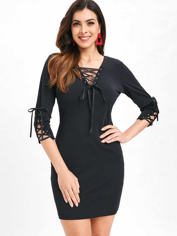 Tunic Lacing Fitted Dress