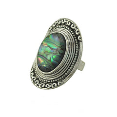 Adjustable Silver Plated Carving Ring