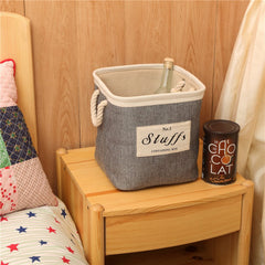 Storage Bucket Brief Style Linen Creative Environmental Clothes Container