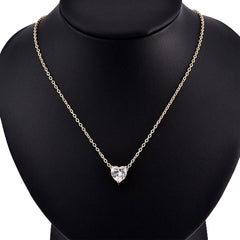 Popular Personality Fashion Zircon Hearts Love Necklace Valentine'S Gift