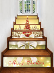 Christmas Tree Forest Pattern Stair Stickers