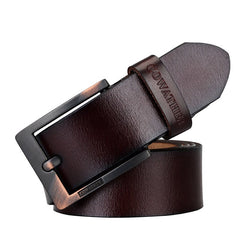 COWATHER Men's Leather Business Casual Fashion Joker Pin Buckle Belt
