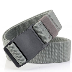 ENNIU Buckle Security Check Thick Canvas Elastic Stretch Casual Men's Belt