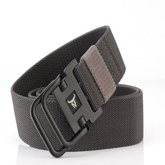 ENNIU Men's Double Ring Buckle Nylon Elastic Stretch Durable Canvas Casual Belt