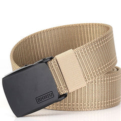 ENNIN Men's Outdoor Alloy Buckle Nylon Canvas Casual Fashion Belt