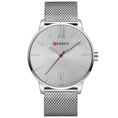 CURREN 8238 Quartz Casual Business Slim Mesh Men's Watch