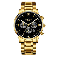NIBOSI Men's Luxury Famous Top Brand Fashion Casual Chronograph Watches