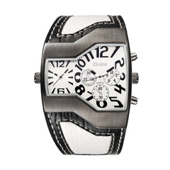 OULM Men's Casual Fashion Personality Creative Two-time Watch