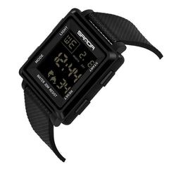 Sanda Square Multi-Function Sports  Luminous Watch