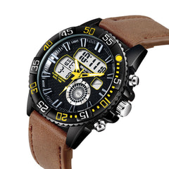 Sanda Military Style Big Dial Belt Fashion Casual  Fashion Watch