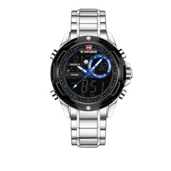 NAVIFORCE Men's Luxury Brand Sports Water Resistant LED Digital Quartz Watches
